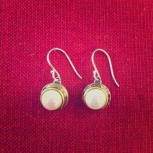 Silpada KR Gold & Sterling Silver Pearl Earrings